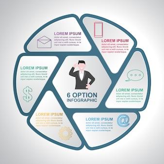 Geschäftsschritte-modernes fensterladen-zyklus-diagramm infographic-schablone