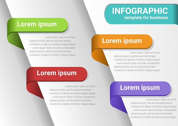 Geschäftsschritte zum erfolg infografik-daten