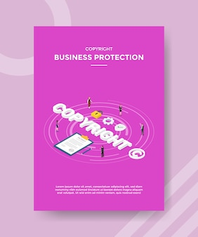 Geschäftsschutzleute, die um worturheberrechtsvereinbarung herumstehen