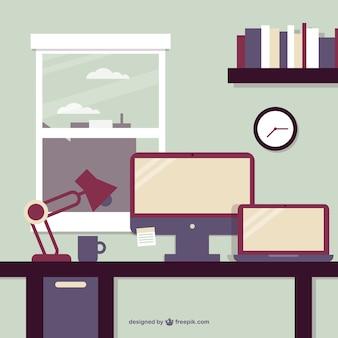 Geschäftsstelle fensteransicht vektor