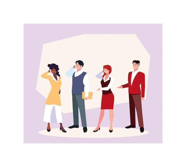 Geschäftsstellung der gruppe von personen, geschäftsfachleute