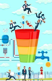 Geschäftsstrategie. flache vektor-illustration.