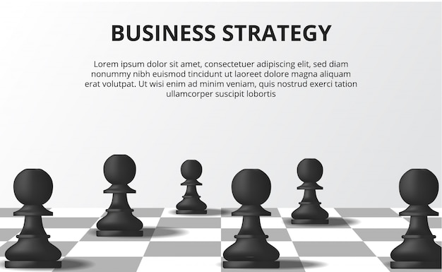 Geschäftsstrategie-konzept
