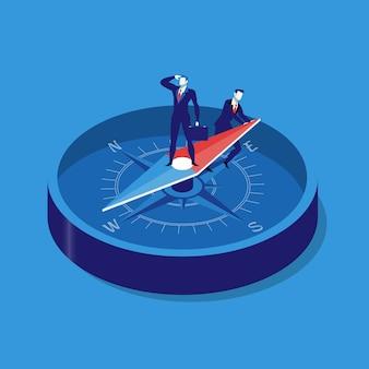 Geschäftsstrategiekonzept-vektorillustration in der flachen art