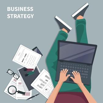 Geschäftsstrategiekonzept