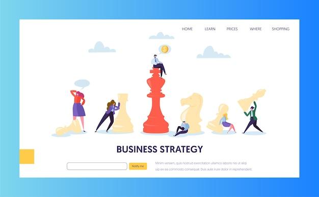Geschäftsstrategieplan teamwork landing page