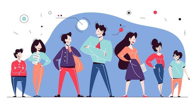 Geschäftsteam. gruppe von mitarbeitern im anzug. idee der teamarbeit