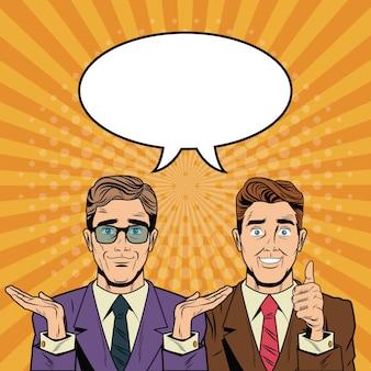 Geschäftsteam-pop-part cartoons