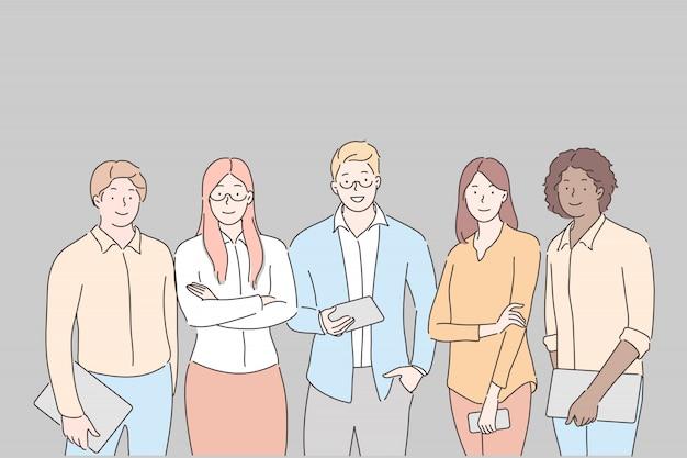 Geschäftsteam, zusammenarbeit, partnerschaftskonzept