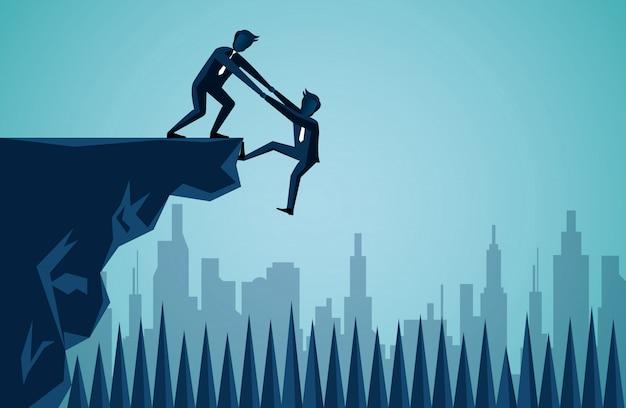 Geschäftsteamwork-illustration