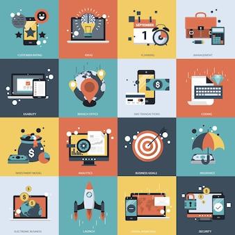 Geschäftstechnologie und management-set