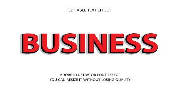Geschäftstext-guss-effekt