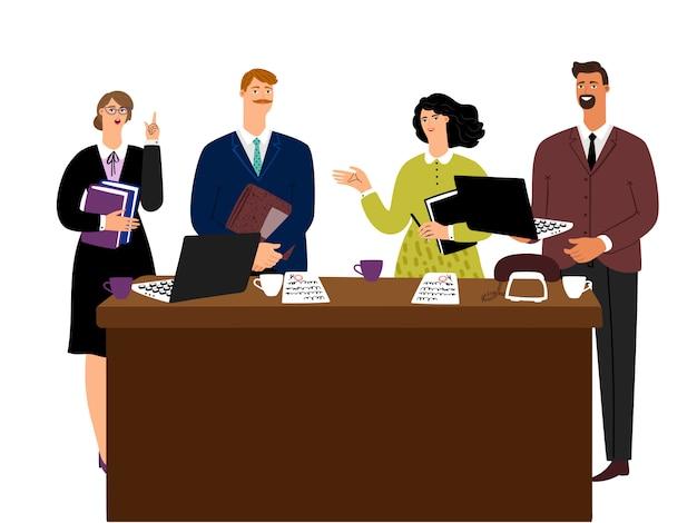 Geschäftstreffen mann und frau verhandlungskonzept