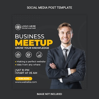 Geschäftstreffen social media post vorlage