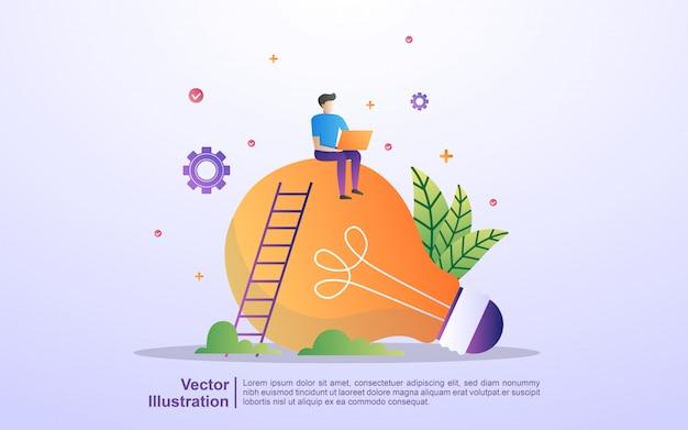Geschäftstreffen und brainstorming. idee und geschäftskonzept für teamwork.