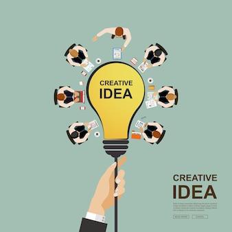 Geschäftstreffen und brainstorming