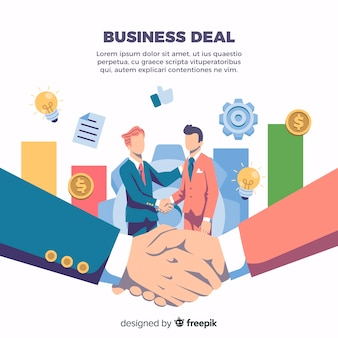 Geschäftsvereinbarung beim händeschütteln