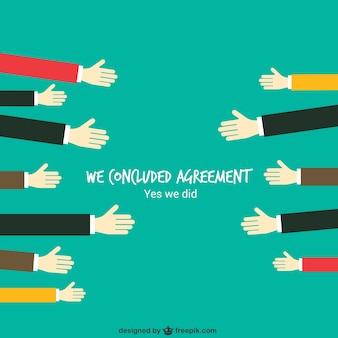 Geschäftsvereinbarung konzept