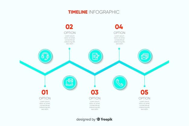 Geschäftsverlauf infografik