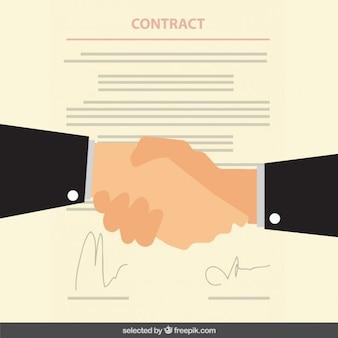 Geschäftsvertrag