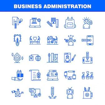 Geschäftsverwaltung liniensymbole