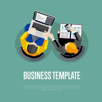 Geschäftsvorlage. arbeitsbereich der draufsicht