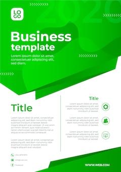 Geschäftsvorlage für abstraktes design