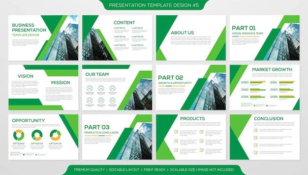 Geschäftsvorlage präsentation layout