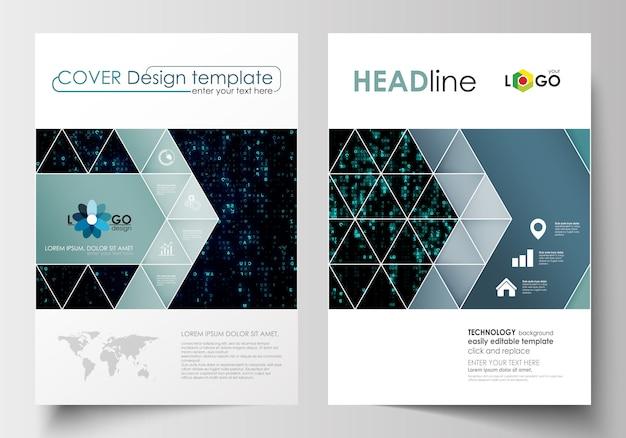 Geschäftsvorlagen für broschüre, flyer. cover-designvorlage