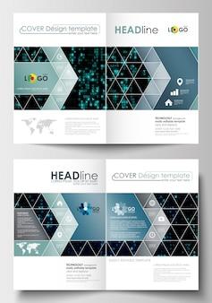 Geschäftsvorlagen für broschüre, magazin, flyer.