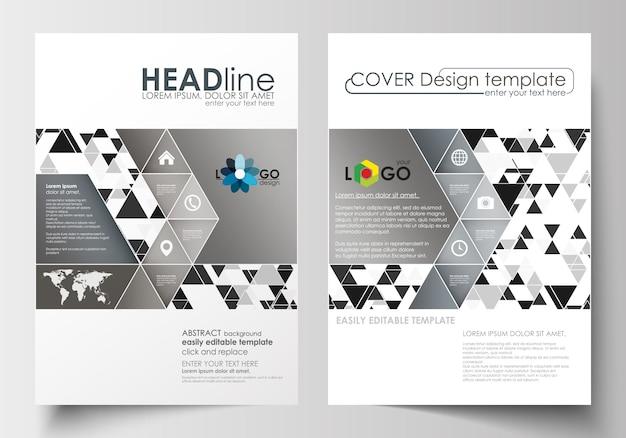 Geschäftsvorlagen für broschüren, magazine, flyer, broschüren oder berichte. cover-vorlage