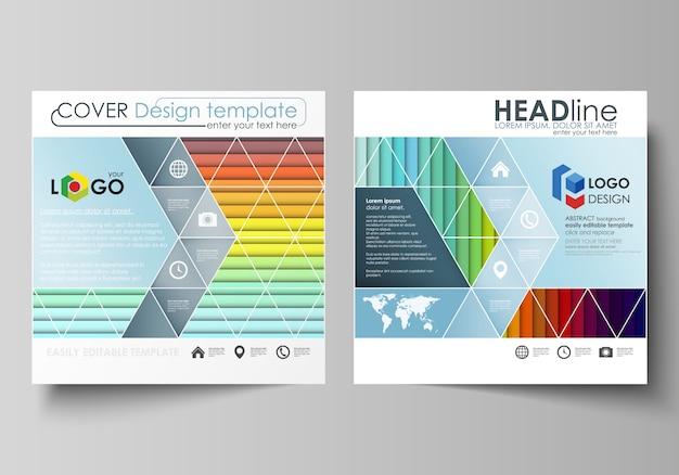 Geschäftsvorlagen für eine quadratische broschüre