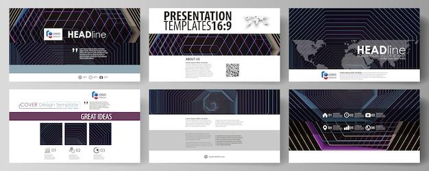 Geschäftsvorlagen im hd-format für präsentationsfolien.