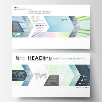 Geschäftsvorlagen im hd-format für präsentationsfolien