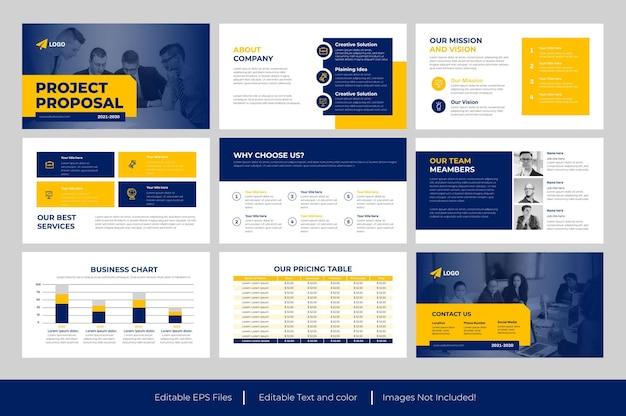 Geschäftsvorschlag und projektvorschlag powerpoint-vorlage