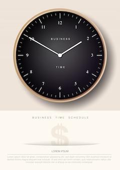 Geschäftszeit-plakat