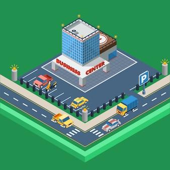 Geschäftszentrum isometrische illustration