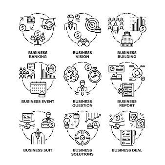 Geschäftsziel, lösungen und realisierung, event- und deal-vereinbarung