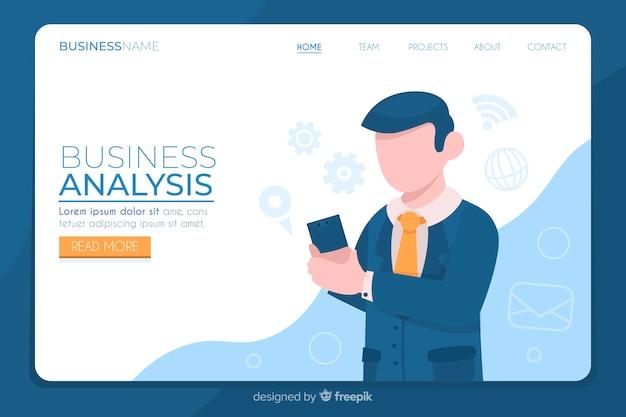 Geschäftszielseite mit analyse