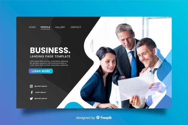 Geschäftszielseite mit foto