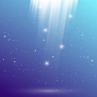 Geschaffener Unterwasserlichtreflexions-Zusammenfassungshintergrund