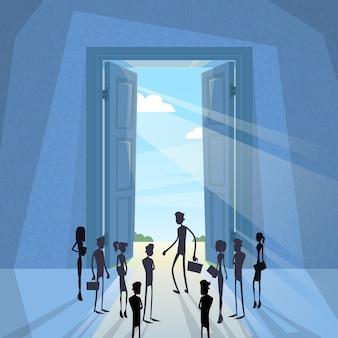 Geschäfts-Leute gruppieren schwarzes Schattenbild