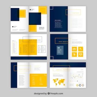 Geschäftsbericht Design in flachen Stil