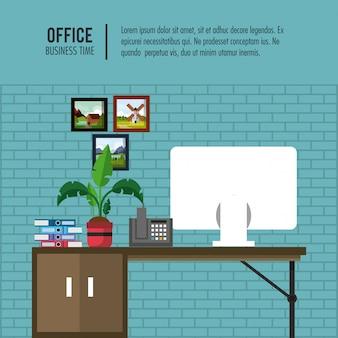 Geschäftsbüro-Innenfahneninformationen