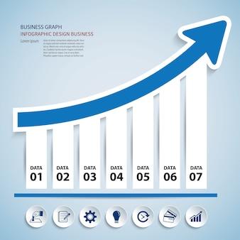 Geschäftsdiagramm-Infographic-Elementdaten Schablone