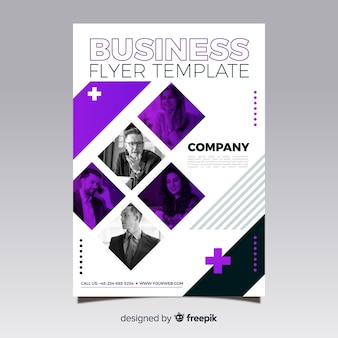 Geschäftsflieger mit Mosaikbildern
