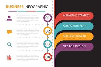 Geschäftsinfografik mit Elementdarstellung