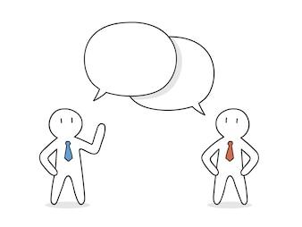 Geschäftsleute sprechen Design