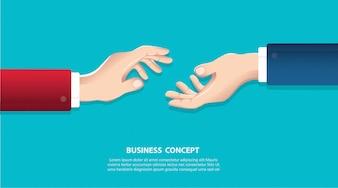 Geschäftsmänner, die Hände auf einem Hintergrund rütteln