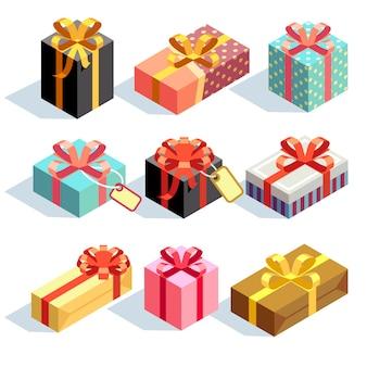 Geschenk-icons und geschenkboxen